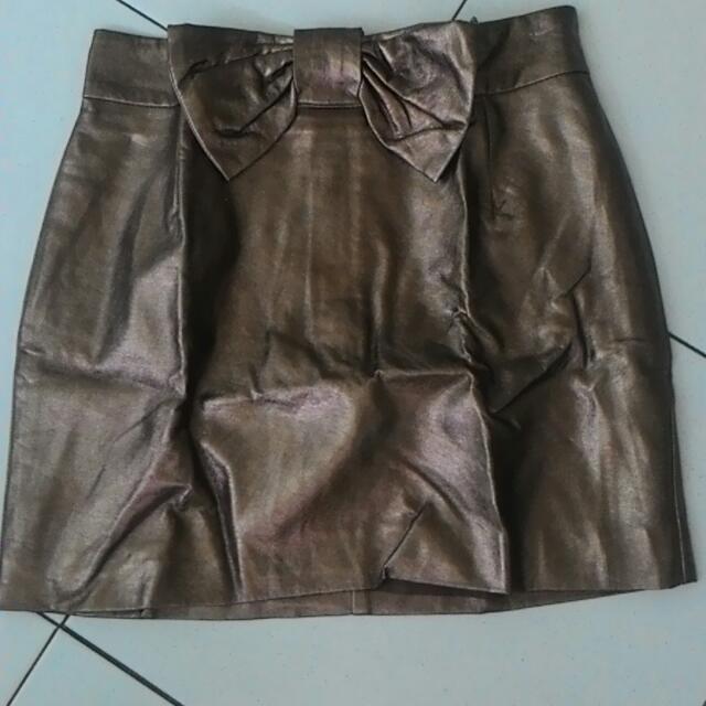 H&M Gold Skirt