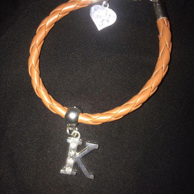 K Charm Bracelet
