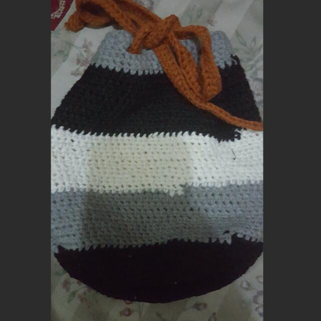 Knitted Crochet Bag
