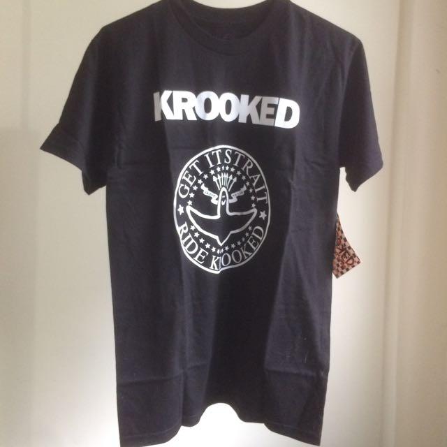 Krooked Tee S 全新 滑板 Ramones