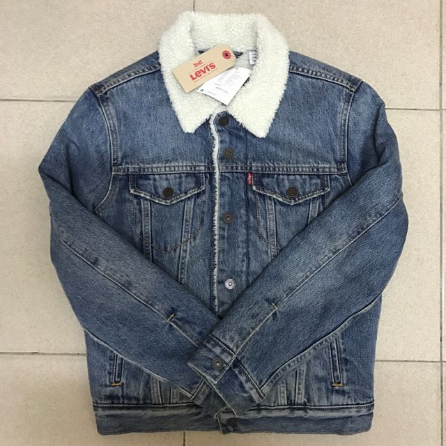 Levi's 牛仔羊毛外套