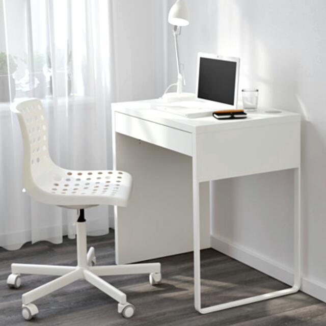 Minimalist White IKEA Micke Desk