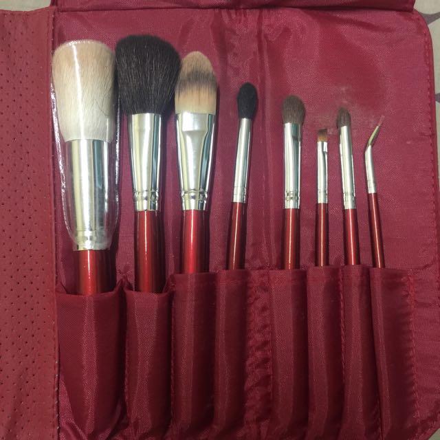 Morphe Brushes 700 - 8pcs Candy Apple Red Brush Set
