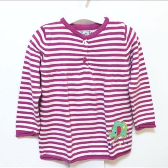 MOTHERCARE GIRL STRIPE KNIT SWEATER TOP (18-24 months)