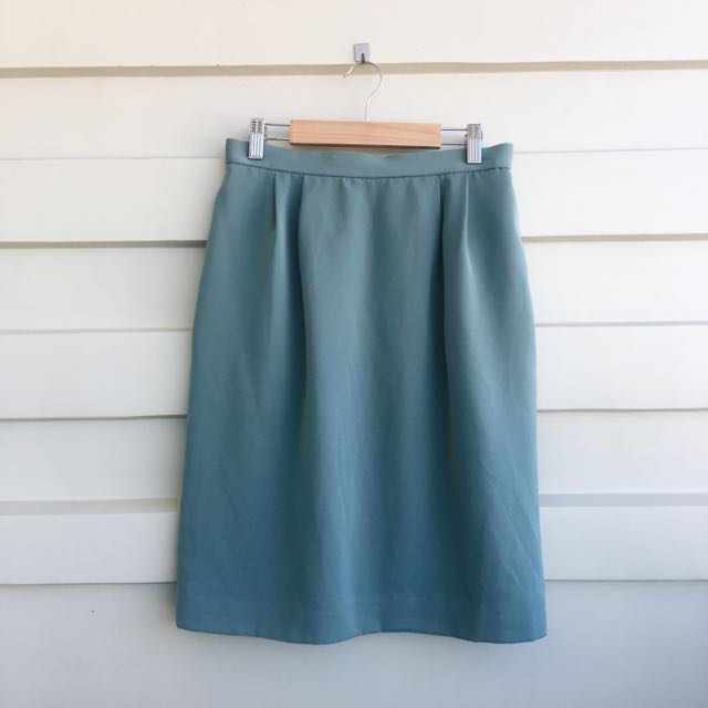 Muted Teal Skirt
