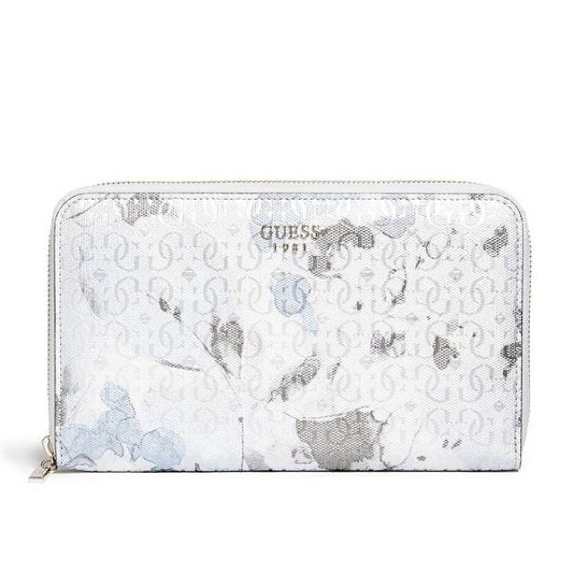 New Guess Women's Winnett Passport Wallet; Floral