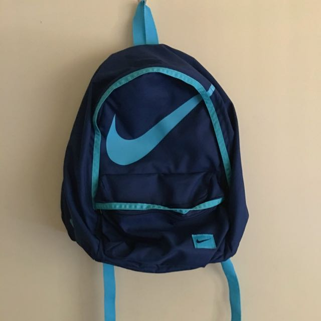 Nike Blue Backpack With Pencil Pouch