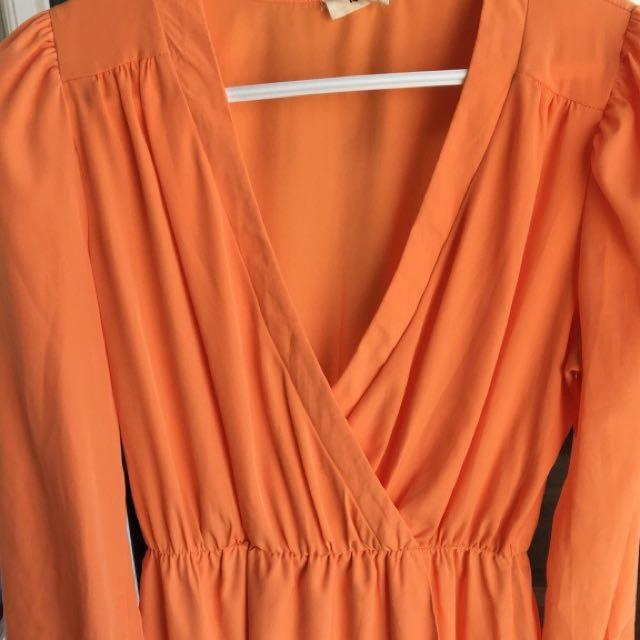 Orange Dress From Tobo