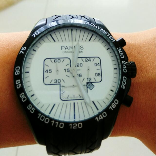 Free Shipping ✈48mm Japanese Quartz Full Movement, Chronograph Big Face Watch