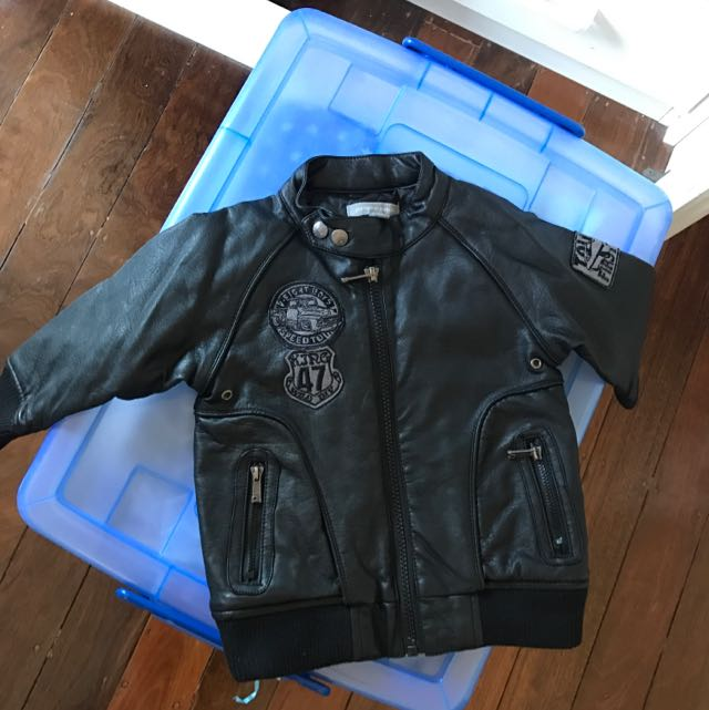Pumpkin Patch Leather Jacket 12/18 Months