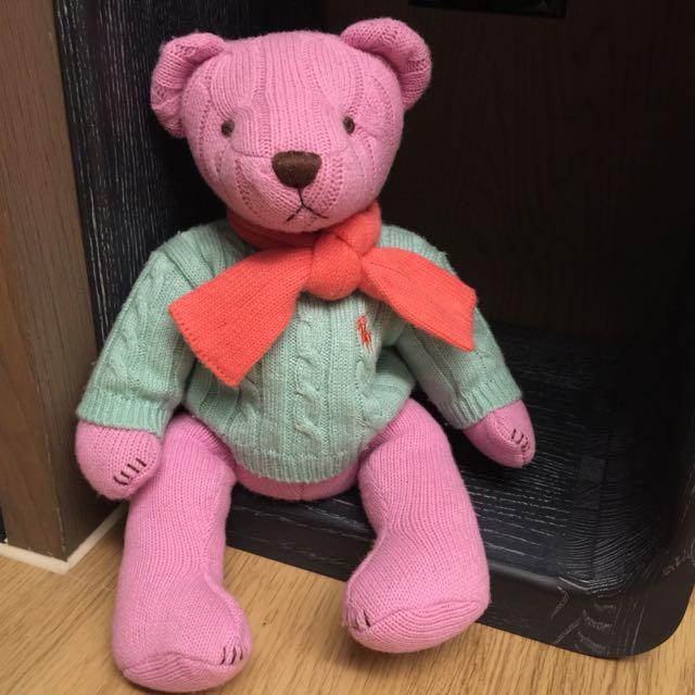 Ralph Lauren 針織紀念絕版熊polo