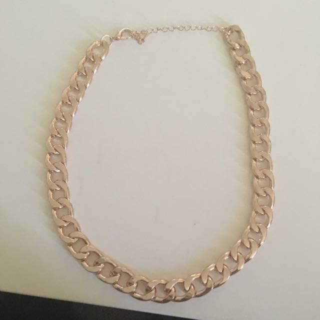 Rose Gold Dress Chain Necklace