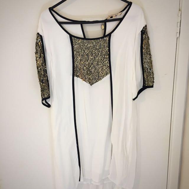 Shila White Sequin Dress