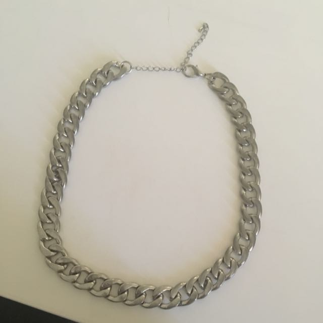 Silver Dress Chain Necklace