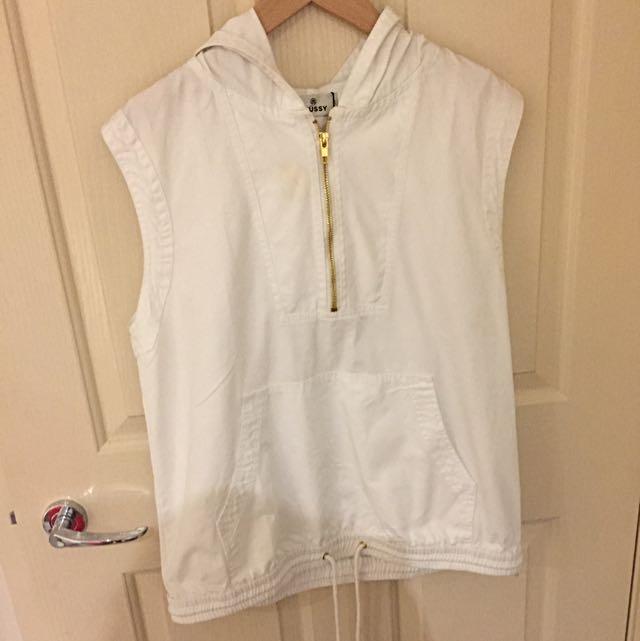 stussy hoodie vest
