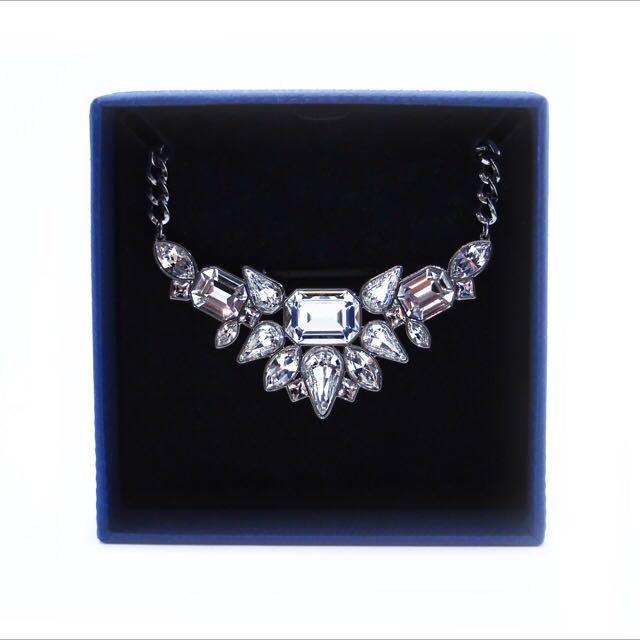 Swarovski Crystal Plume Necklace