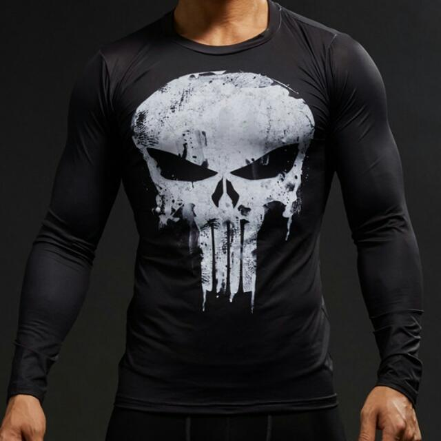 0bbbe06f5 The Punisher Compression Shirt   LS (Male)   Marvel Netflix Series ...