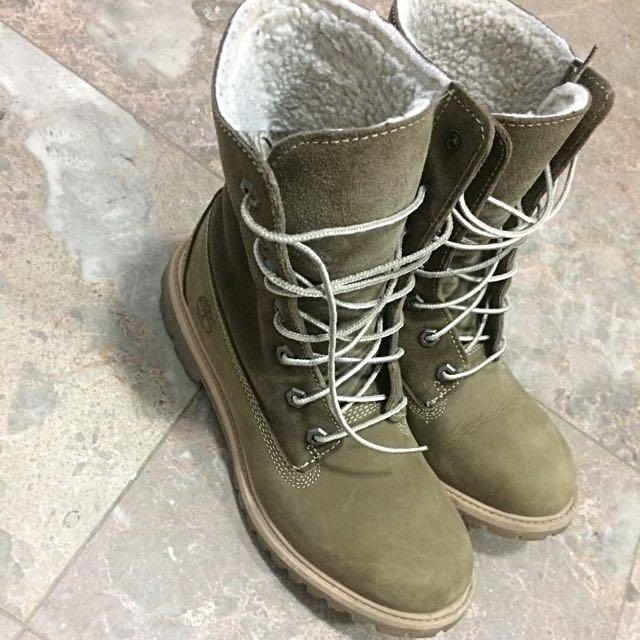 Timberland Teddy Fleece Boots Women's Size 8