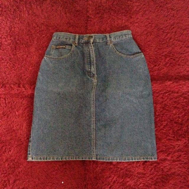 Vintage High Waist Jeans Skirt