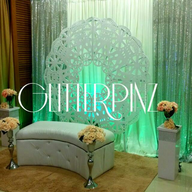 Wedding Mini Pelamin Deco Package Event Backdrops Nikah Tunang