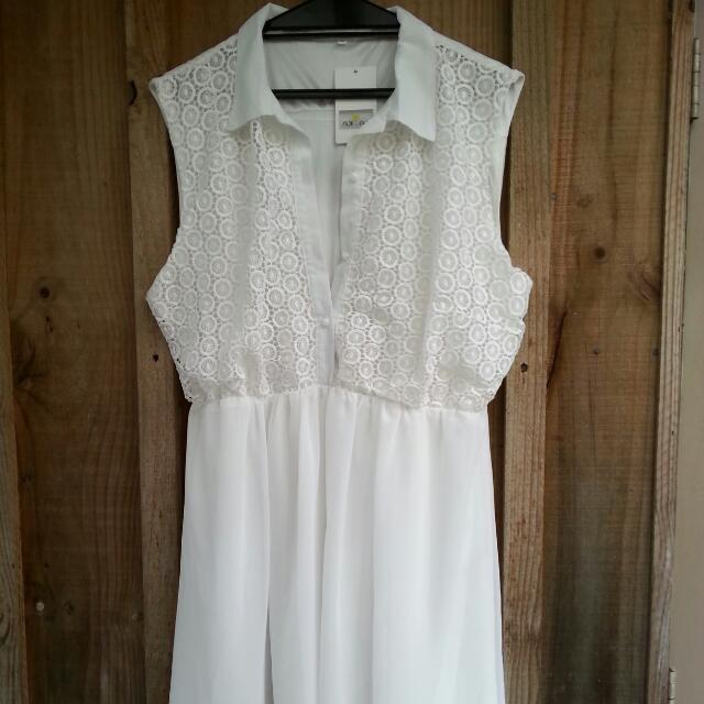 White Size 3xl Dress