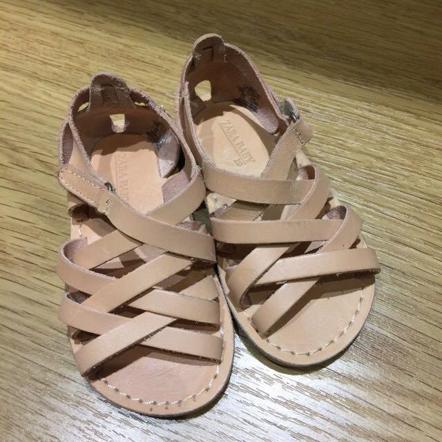 Zara Baby 真皮羅馬涼鞋