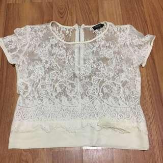 Lace blouse TOPSHOP
