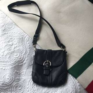 Coach Authentic Cross Body Black