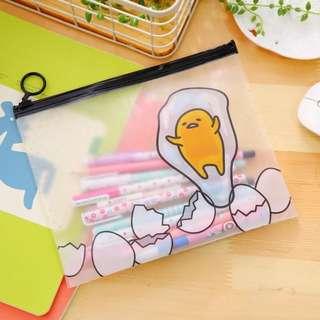 Gudetama Transparent PVC Multi-purpose Bag