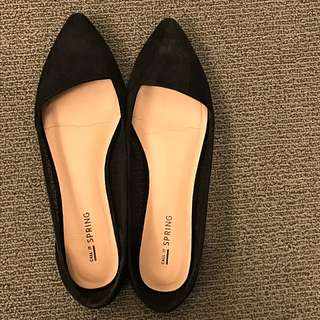 Black Call it Spring Flats Size 8