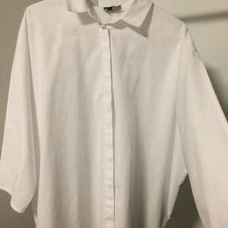 Asos White Button Up Shirt Size 10
