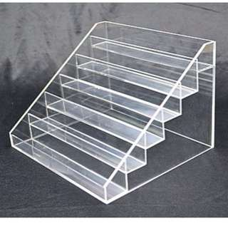 Nail Polish Display 5mm Acrylic Stand 6 Tier Holds 48-54