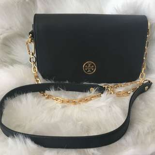 Authentic Tory Burch Black Crossbody Bag