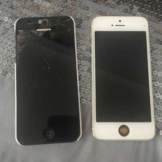 Broken iPhone 5's
