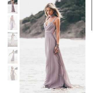 Saboskirt Olympia Slate Gown Dress Size 6
