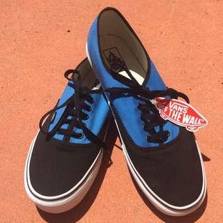Mens Vans - Black And Blue Size 12 Lace Up