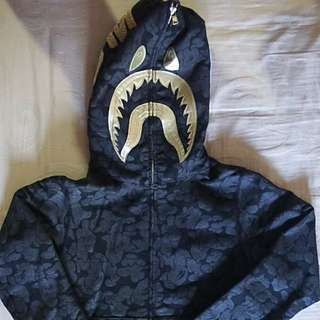Original BAPE Solid Camo Shark Full Zip Hoodie