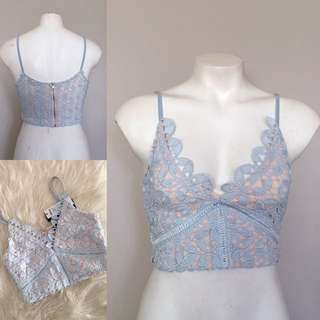 Blue Lace Crop