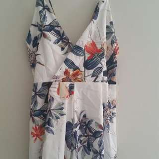 White Floral Playsuit