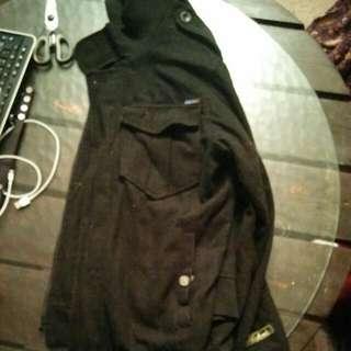 Akademics Black Wool Coat