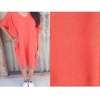 Oversized Orange Dress