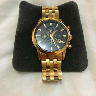 ELITE Gold Men's Watch