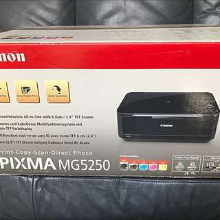 "Brand New Canon Pixma MG5250 Wireless All In One With 2.4"" TFT Screen"