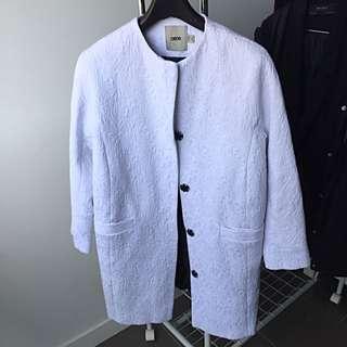 ASOS Oversized White Embellished Coat