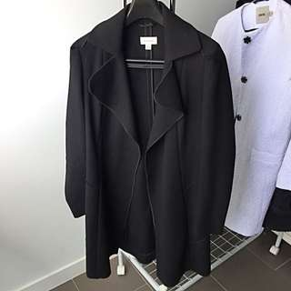 Witchery Black Trench Coat With Belt
