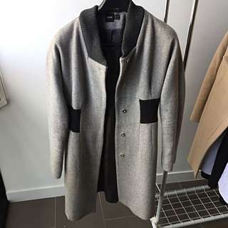 ASOS Grey Jacket With Black Highlights