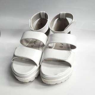 Tokyo White Strappy Platform Sandals