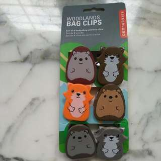 Woodlands Bag Clips