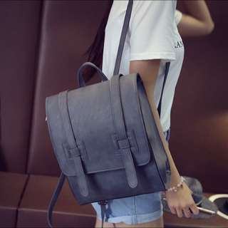 Matt Grey Backpack