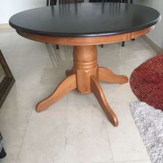 Free Giveaway Wooden Round Table For 4-5 With Rug